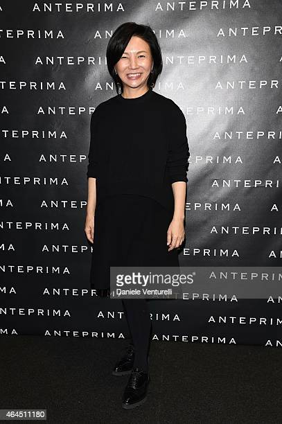 Izumi Ogino attends the Anteprima show during the Milan Fashion Week Autumn/Winter 2015 on February 26 2015 in Milan Italy