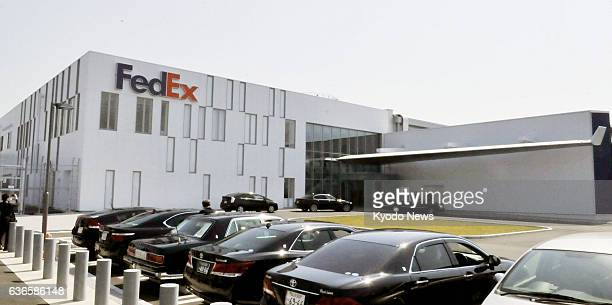 Izumisano Japan Photo shows US delivery company FedEx Corp's new North Pacific regional hub facility at Kansai International Airport on April 8 2014...