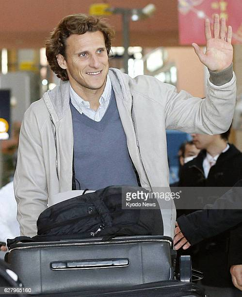 Izumisano Japan Uruguay striker Diego Forlan winner of the Golden Ball Award as the most valuable player at the 2010 World Cup finals in South Africa...