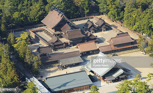 Izumo Japan File photo taken March 2013 shows IzumoTaisha grand shrine in Izumo Shimane Prefecture western Japan The number of visitors to the shrine...