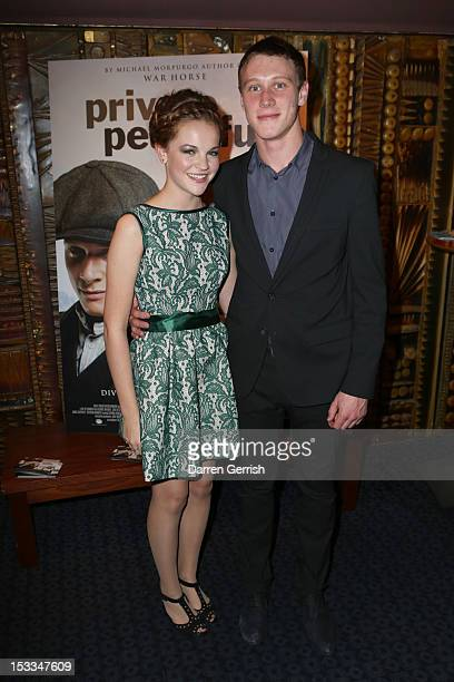 Izzy MeikleSmall and George Mackay attend the premiere of 'Private Peaceful' at the Curzon Mayfair on October 3 2012 in London England