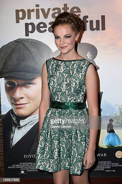 Izzy MeikleSmall attends the premiere of 'Private Peaceful' at the Curzon Mayfair on October 3 2012 in London England