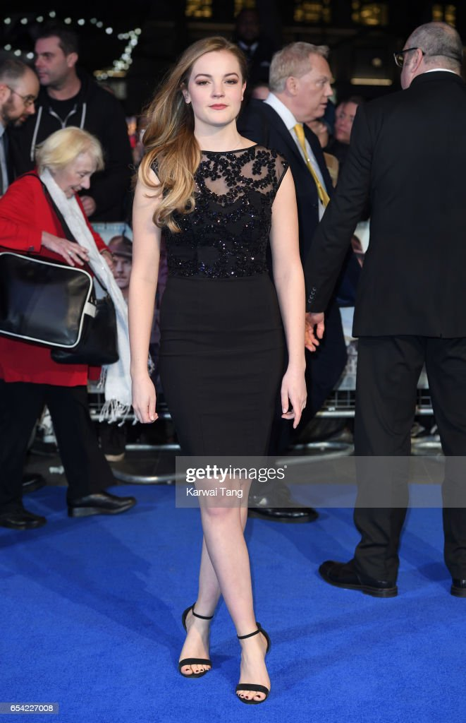 Izzy Meikle-Small attends the World Premiere of 'Another Mother's Son' at the Odeon Leicester Square on March 16, 2017 in London, England.