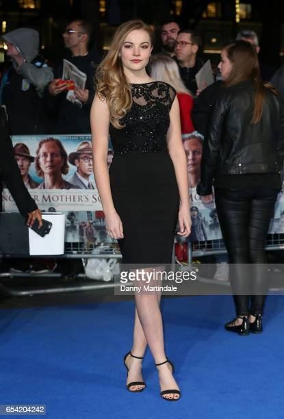 Izzy MeikleSmall attends the World Premiere of 'Another Mother's Son' on March 16 2017 in London England