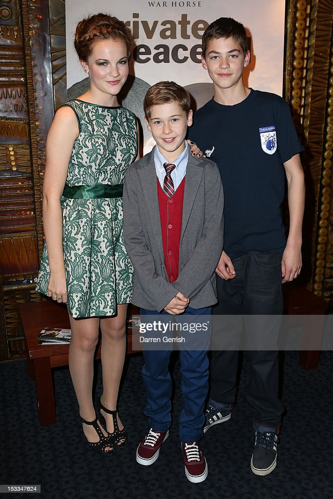 Izzy Meikle-Small, Sam Bottomley and Hero Fiennes Tiffin attend the premiere of 'Private Peaceful' at the Curzon Mayfair on October 3, 2012 in London, England.