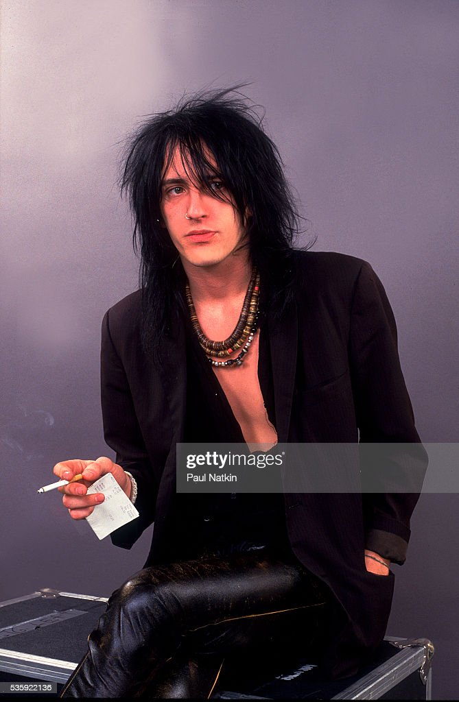 Izzy Stradlin of Guns And Roses at the UIC Pavillion in Chicago, Illinois, August 21, 1987 .