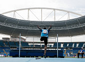 Ja Avellaneda of Argentina competes the Men's High Jump T42 Final during the Paralympics Athletics Grand Prix Aquece Rio Test Event for the Rio 2016...
