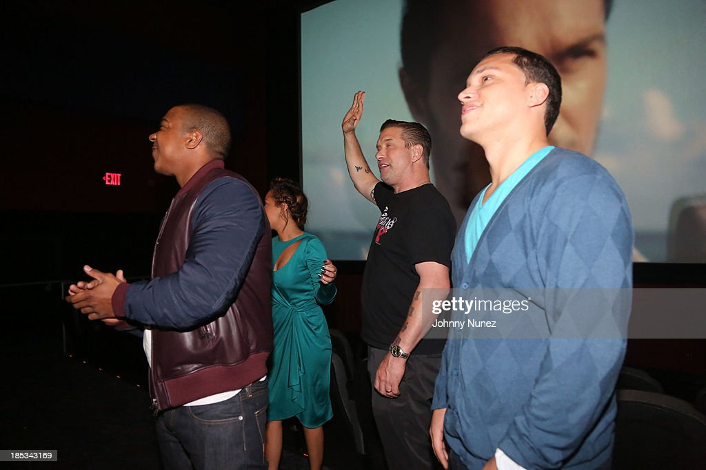 Ja Rule, Adrienne Bailon, Stephen Baldwin and Michael Rivera attend the 'I'm In Love With a Church Girl' screening at the Regal E-Walk Stadium 13 on October 18, 2013 in New York City.