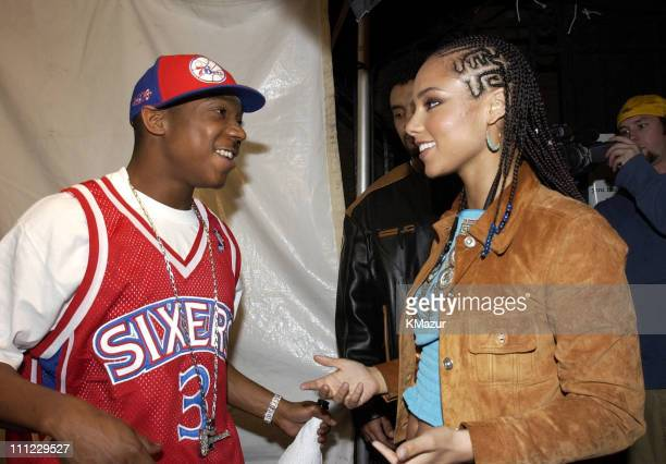 Ja Rule and Alicia Keys during LIFEBeat's Urban AID 2 Benefit Concert at Beacon Theater in New York City New York United States