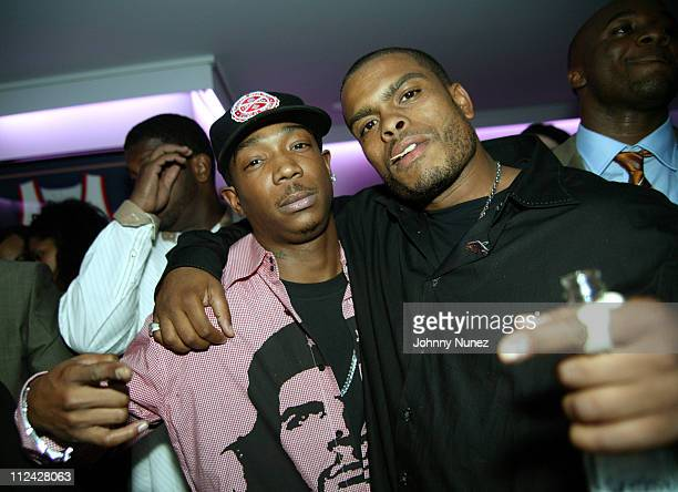Ja Rule and Benny Boom during One Year Anniversary Celebration of JayZ's 40/40 Club Inside at 40/40 in New York City New York United States