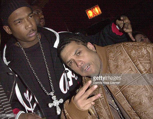 Ja Rule and Benzino during Source Magazine Party at Sessa in New York City New York United States