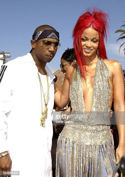 Ja Rule and Charli Baltimore during The 2nd Annual BET Awards Arrivals at The Kodak Theater in Hollywood California United States