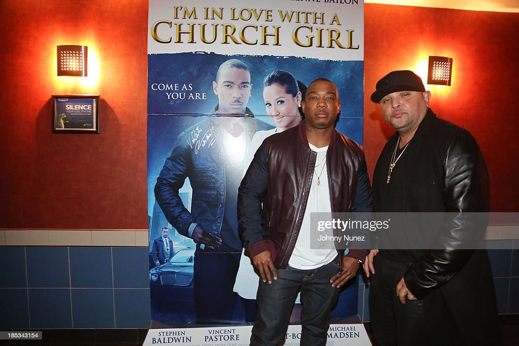 Ja Rule and Galley Molina attend the 'I'm In Love With a Church Girl' screening at the Regal E-Walk Stadium 13 on October 18, 2013 in New York City.