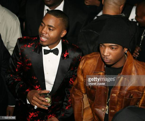 Ja Rule and Nas during Nas Celebrates His New Album 'Hip Hop is Dead' at His Black White Ball December 18 2006 at Capitale in New York City New York...