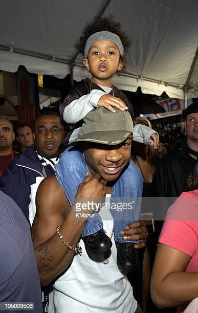 Ja Rule and son during 2002 MTV Video Music Awards Arrivals at Radio City Music Hall in New York City New York United States