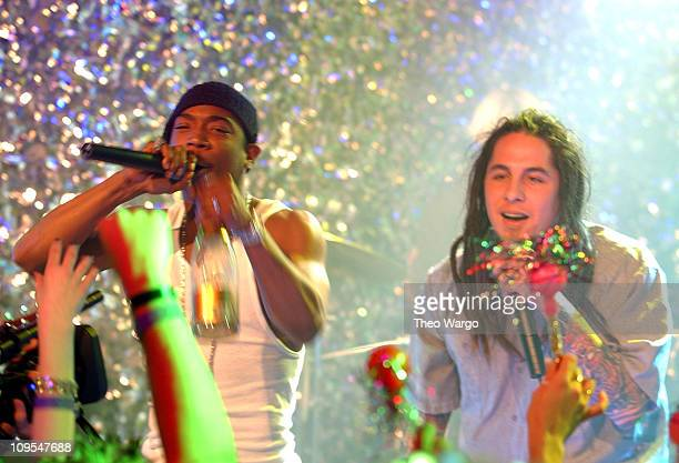 Ja Rule and Sonny Sandoval of POD during MTV 2002 New Year's Party Live from New York City's Times Square Show at MTV Studios in New York City New...