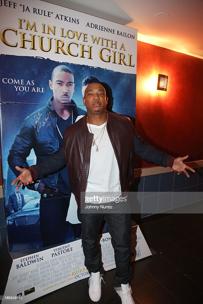 <a gi-track='captionPersonalityLinkClicked' href=/galleries/search?phrase=Ja+Rule&family=editorial&specificpeople=202108 ng-click='$event.stopPropagation()'>Ja Rule</a> attends the 'I'm In Love With a Church Girl' screening at the Regal E-Walk Stadium 13 on October 18, 2013 in New York City.
