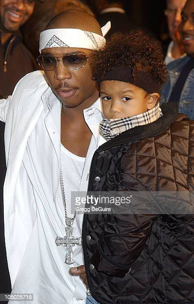 Ja Rule son during 'Half Past Dead' Premiere at Loews Century Plaza Cinema in Century City California United States