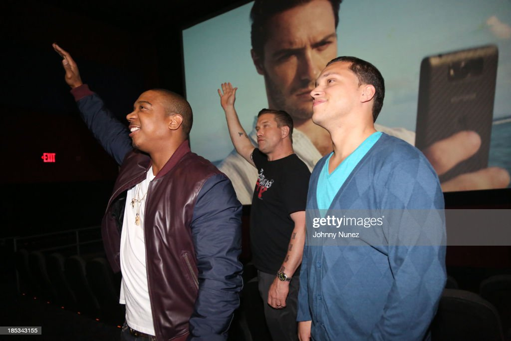 Ja Rule, Stephen Baldwin and Michael Rivera attend the 'I'm In Love With a Church Girl' screening at the Regal E-Walk Stadium 13 on October 18, 2013 in New York City.
