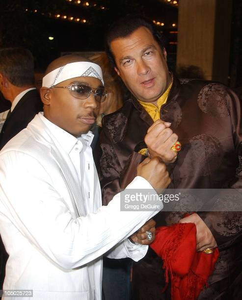 Ja Rule Steven Seagal during 'Half Past Dead' Premiere at Loews Century Plaza Cinema in Century City California United States