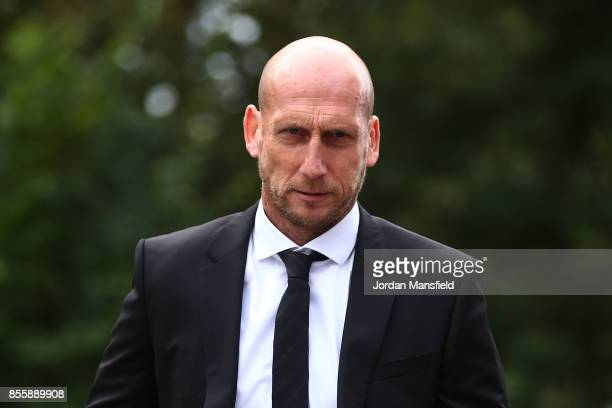 Jaap Stam manager of Reading arrives at the ground prior to the Sky Bet Championship match between Reading and Norwich City at Madejski Stadium on...