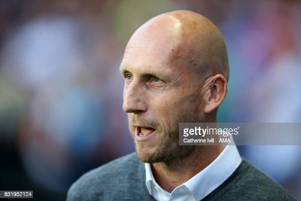 Jaap Stam manager of Reading during the Sky Bet Championship match between Reading and Aston Villa at Madejski Stadium on August 15 2017 in Reading...