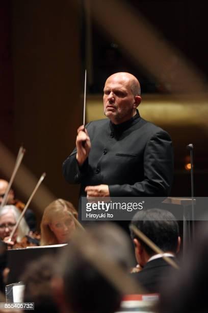 Jaap van Zweden leading the New York Philharmonic at David Geffen Hall on Friday night September 22 2017 This image Jaap van Zweden leading the New...