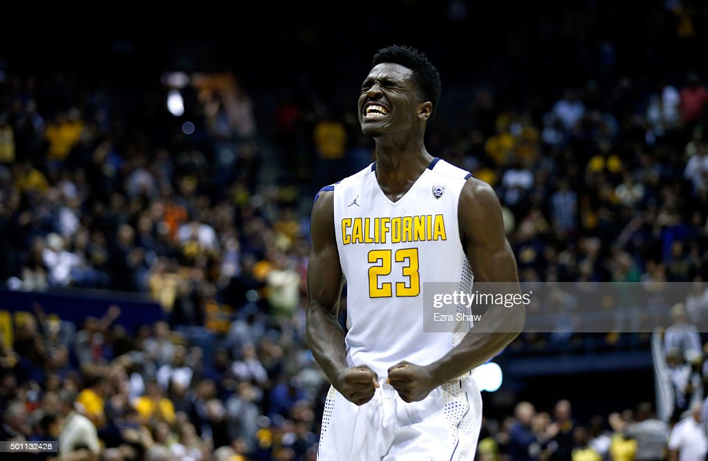 Jabari Bird of the California Golden Bears reacts in the final minute of their win over the St Mary's Gaels at Haas Pavilion on December 12 2015 in...