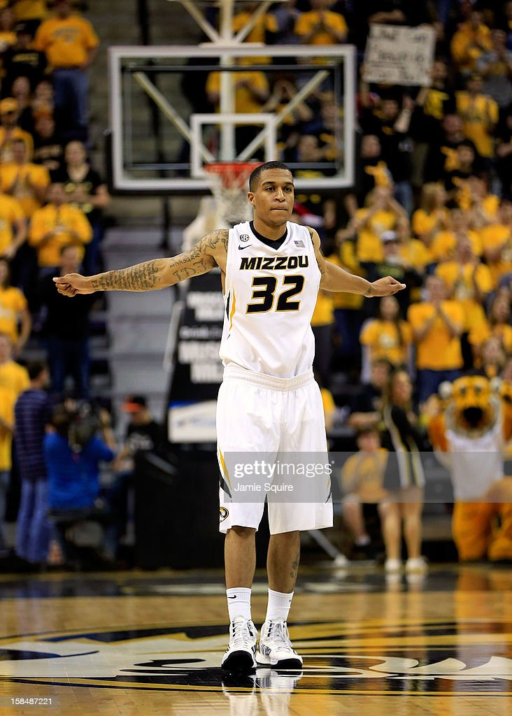 Jabari Brown #32 of the Missouri Tigers enters the game during the game against the South Carolina State Bulldogs at Mizzou Arena on December 17, 2012 in Columbia, Missouri.