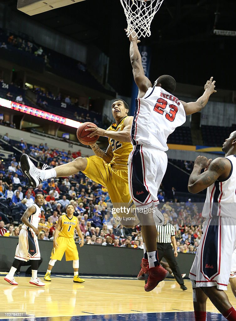 Jabari Brown #32 of the Missouri Tigers shoots the ball against the Ole Miss Rebels during the quarterfinals of the SEC Baketball Tournament at Bridgestone Arena on March 15, 2013 in Nashville, Tennessee.