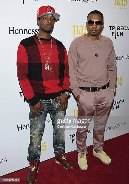 Jabari 'Jungle' Jones and Nas attend the 'Nas Time Is Illmatic' New York Premiere at Museum of Modern Art on September 30 2014 in New York City