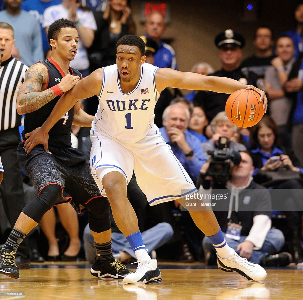 <a gi-track='captionPersonalityLinkClicked' href=/galleries/search?phrase=Jabari+Parker&family=editorial&specificpeople=9330340 ng-click='$event.stopPropagation()'>Jabari Parker</a> #1 of the Duke Blue Devils moves the ball against the Maryland Terrapins during their game at Cameron Indoor Stadium on February 15, 2014 in Durham, North Carolina.