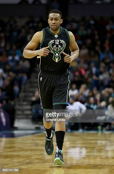 Jabari Parker of the Milwaukee Bucks during their game at Time Warner Cable Arena on January 16 2016 in Charlotte North Carolina NOTE TO USER User...