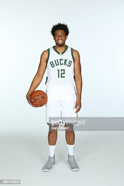 Jabari Parker of the Milwaukee Bucks poses for a portrait during Media Day on September 28 2015 at the Orthopaedic Hospital of Wisconsin Training...