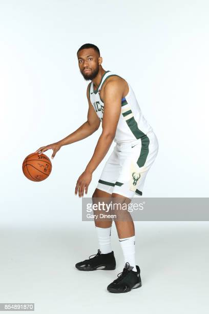Jabari Parker of the Milwaukee Bucks poses for a portrait during the 201718 NBA Media Day on September 25 2017 at the BMO Harris Bradley Center in...