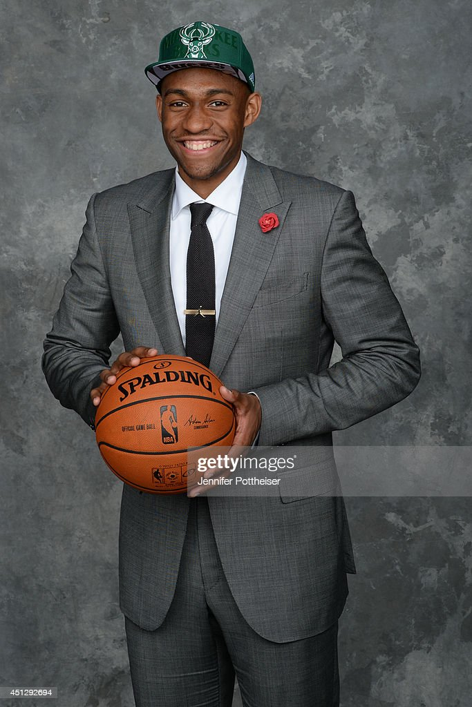 <a gi-track='captionPersonalityLinkClicked' href=/galleries/search?phrase=Jabari+Parker&family=editorial&specificpeople=9330340 ng-click='$event.stopPropagation()'>Jabari Parker</a>, the second pick overall by the Milwaukee Bucks, poses for a portrait during the 2014 NBA Draft at the Barclays Center on June 26, 2014 in the Brooklyn borough of New York City.