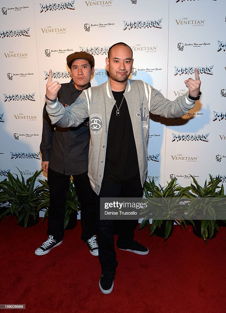 Jabbawockeez arrives at the Rock Of Ages opening after party at The Venetian on January 5, 2013 in Las Vegas, Nevada.
