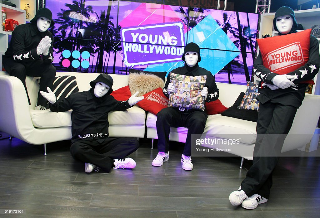 Jabbawockeez visits the Young Hollywood Studio on April 4 2016 in Los Angeles California