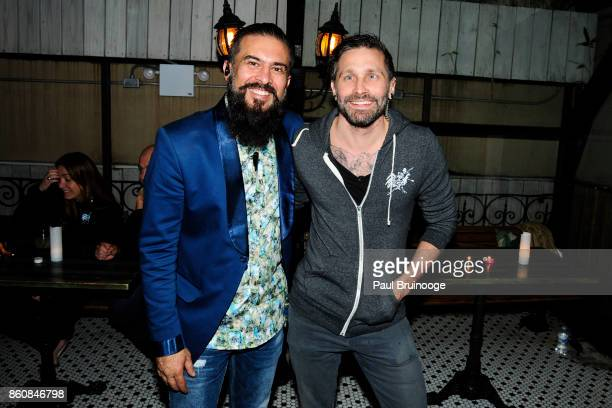Jabber Bawa and Tristan Griffin attend Espolòn Tequila Hosts Celebration in Partnership with Ai Weiwei Exodus Exhibit at Hotel Chantelle on October...