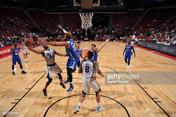 Jabril Trawick of DLeague shoots against the Philadelphia 76ers during the 2016 Las Vegas Summer League on July 13 2016 at the Thomas Mack Center in...