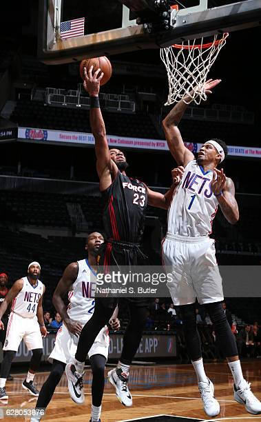Jabril Trawick of the Sioux Falls Skyforce drives to the basket gainst the Long Island Nets during an NBA DLeague game between the Sioux Falls...