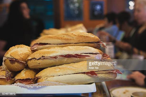 Jabugo ham sandwiches