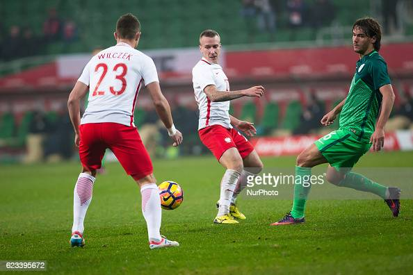 Jacek Goralski of Poland during the international friendly football match Poland vs Slovenia on November 14 2016 in Wroclaw