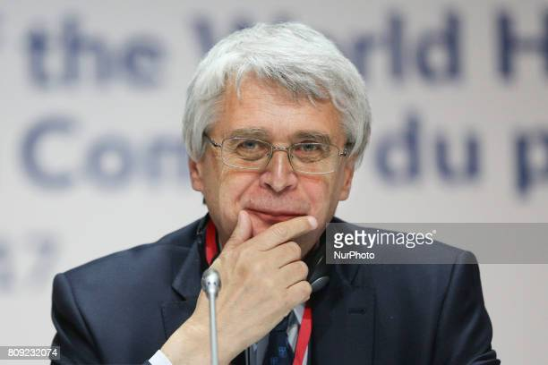 Jacek Purchla President of the Polish National Commission for UNESCO during 41st Session of the World Heritage Committee in Krakow Poland on 3 July...