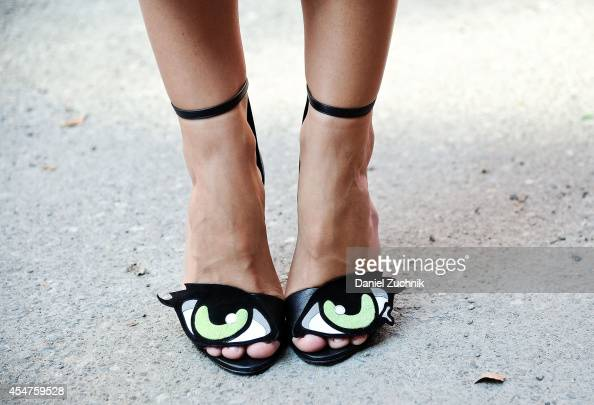 Jacey Duprie is seen outside the Cushnie et Ochs show wearing Pierre Hardy shoes on September 5 2014 in New York City