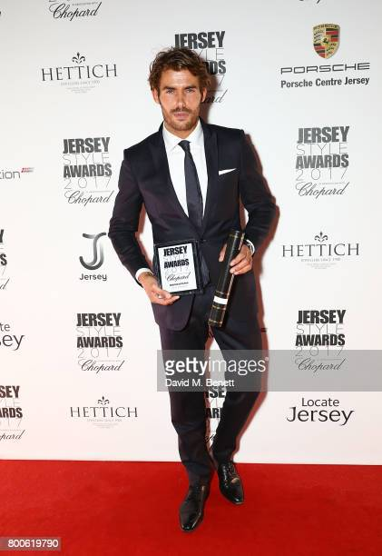 Jacey Elthalion attends the Jersey Style Awards 2017 in association with Chopard at The Royal Jersey Showground on June 24 2017 in Trinity Jersey