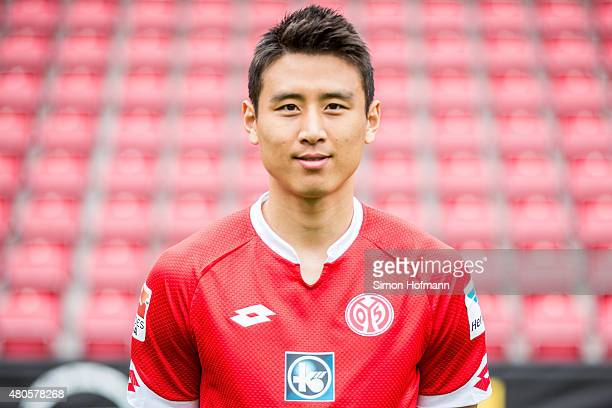 JaCheol Koo poses during the 1 FSV Mainz 05 Team Presentation at Coface Arena on July 12 2015 in Mainz Germany
