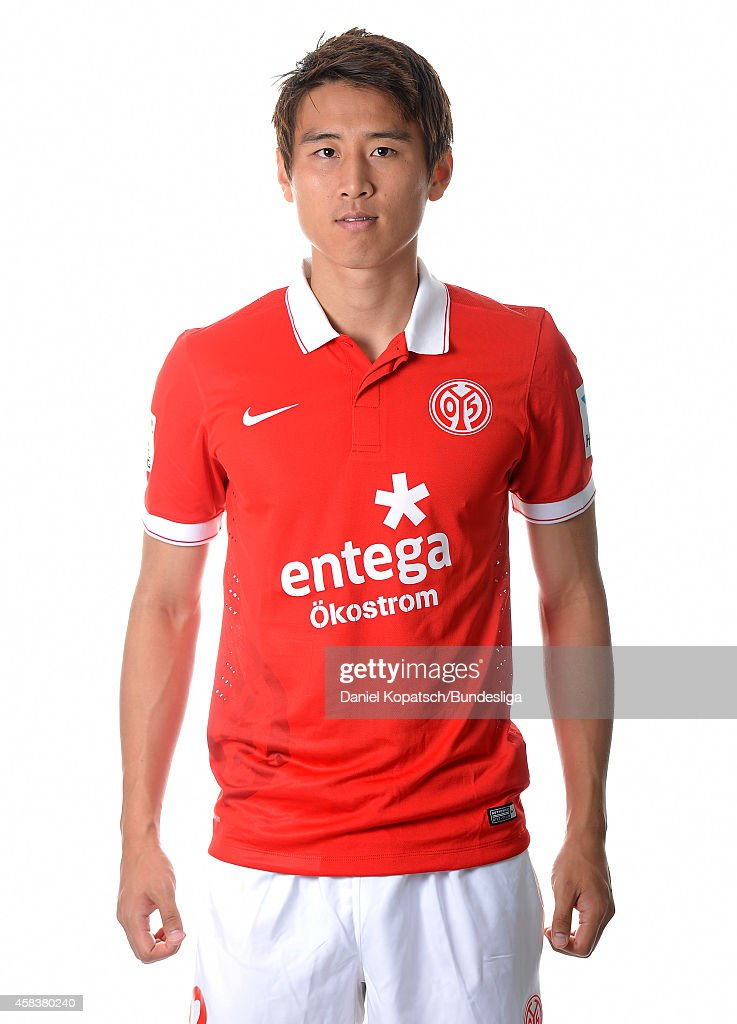 JaCheol Koo poses during the DFL Media Day of 1 FSV Mainz 05 at Coface Arena on July 18 2014 in Mainz Germany