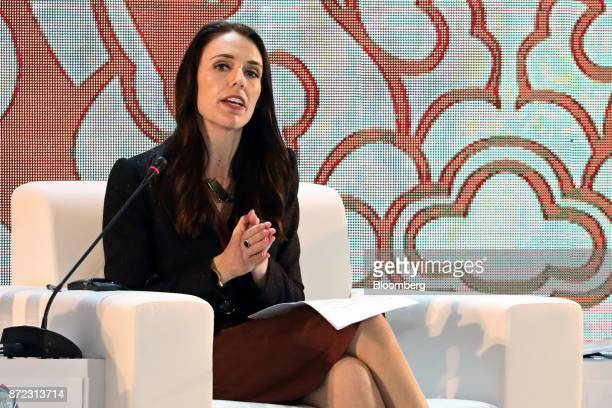Jacinda Ardern New Zealand's prime minister speaks during the AsiaPacific Economic Cooperation CEO Summit in Danang Vietnam on Friday Nov 10 2017...
