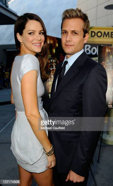 Jacinda Barrett and Gabriel Macht attends the Los Angeles premiere of 'Middlemen' held at the ArcLight Cinemas on August 5 2010 in Hollywood...